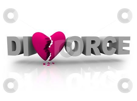 cutcaster-photo-100322592-Divorce-Word-with-Broken-Heart