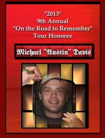 Michael Austin Davis, On the Road to Remember Tour Honoree