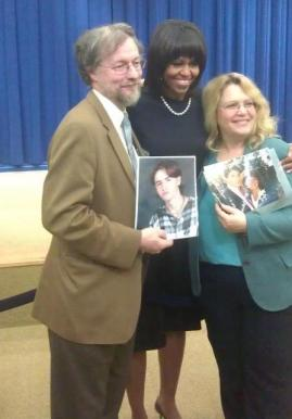 Bill and Jennifer Bishop-Jenkins with First Lady, Michelle Obama