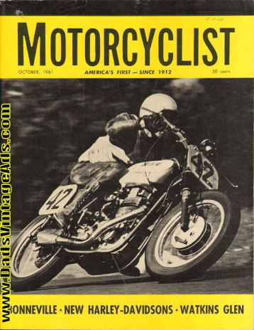 Motorcyclist 1961 Cover